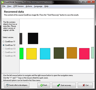 CorelDraw Recovery Toolbox 2.2.9.0