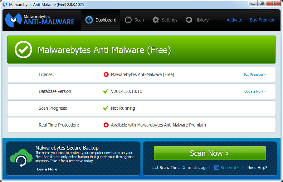 Malwarebytes Anti-Malware 3.8.3.2965
