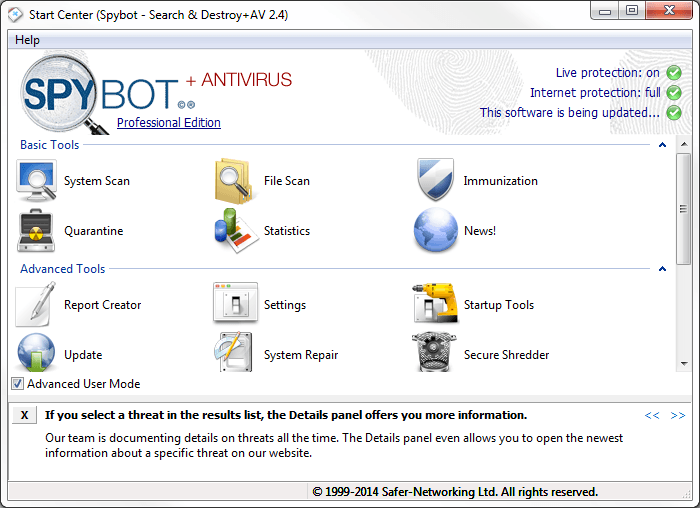 Spybot Search Destroy 2.6.46