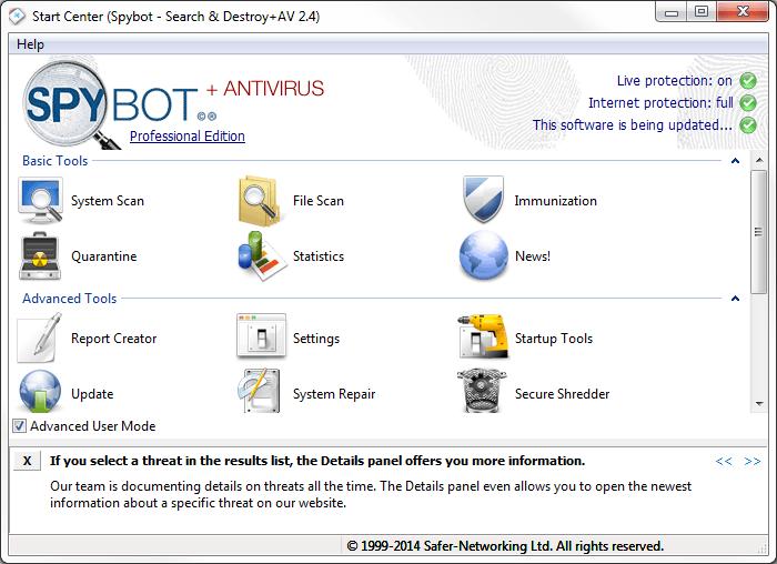 Spybot Search Destroy 2.7.64