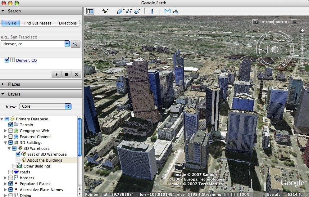 Google Earth 7.3.1.4507