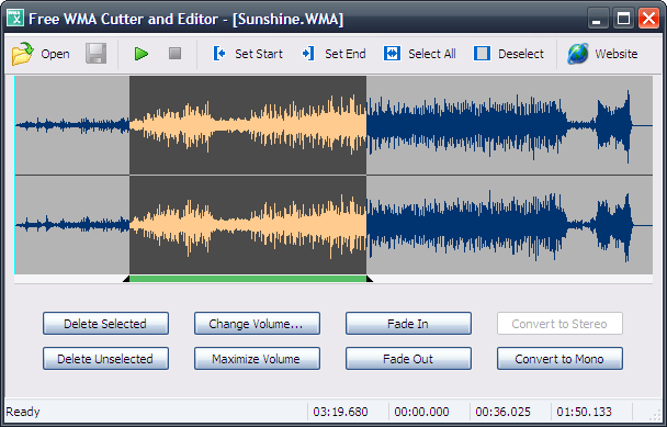 Free WMA Cutter and Editor 2.8