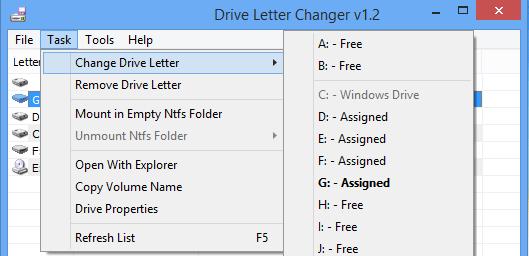 Drive Letter Changer 1.3