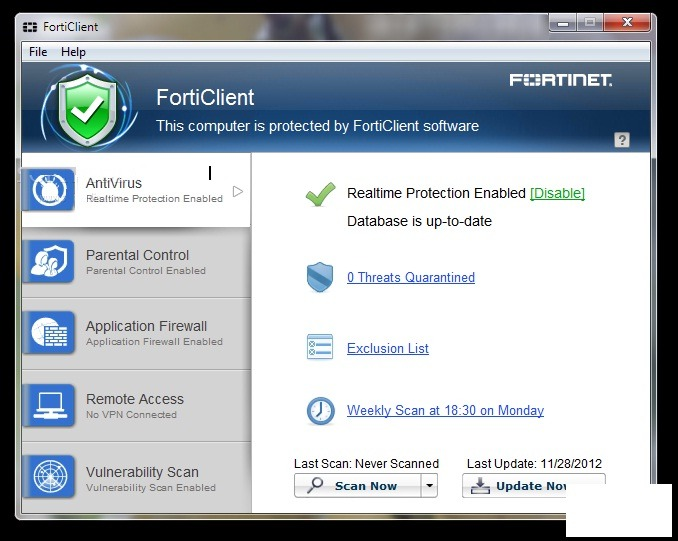 FortiClient Standard 6.0