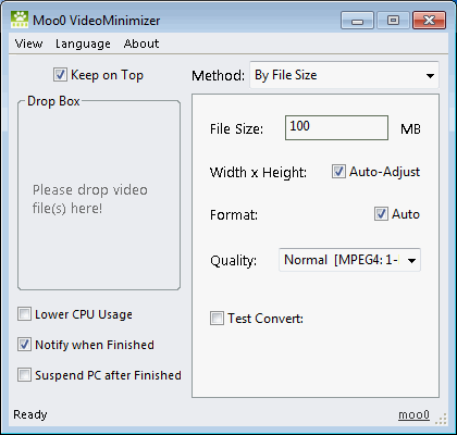 Moo0 Video Küçültücü 1.26
