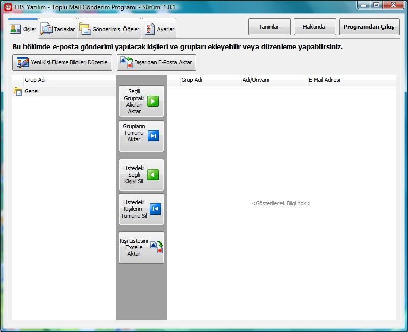 EBS Toplu Mail Gönderim Programı 1.0.1