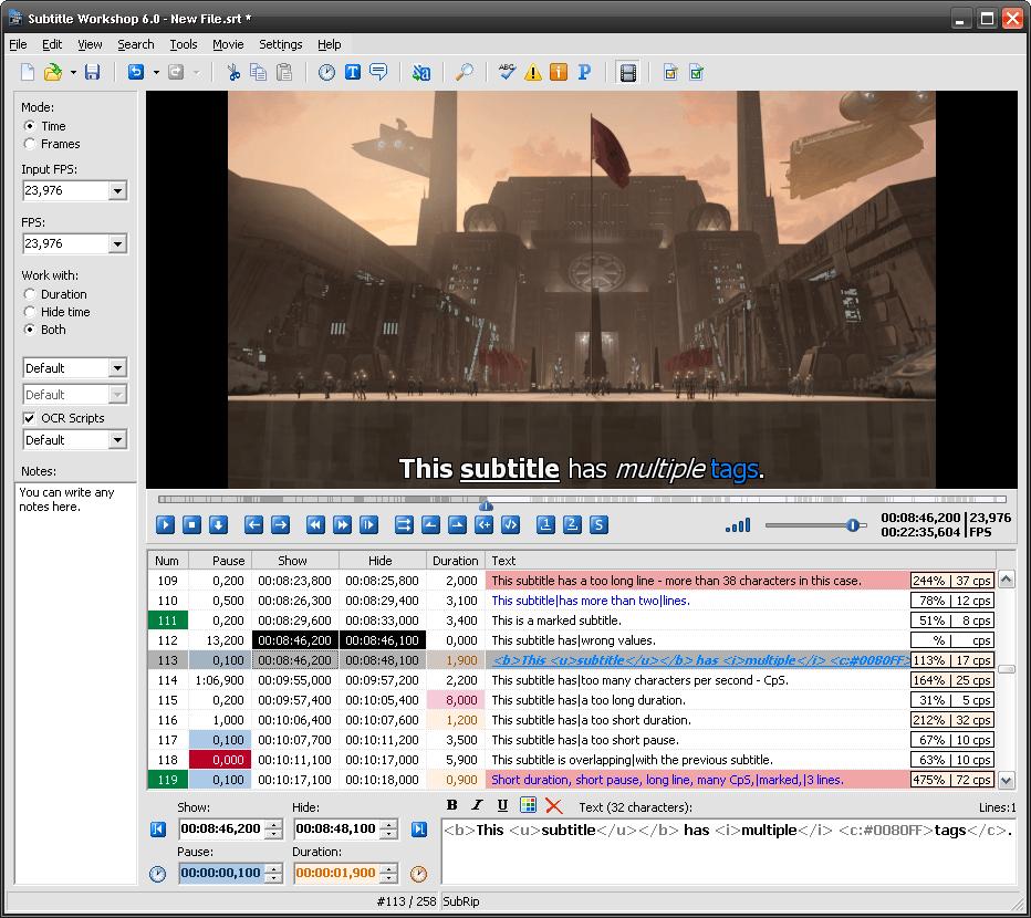 Subtitle Workshop 6.01 r7