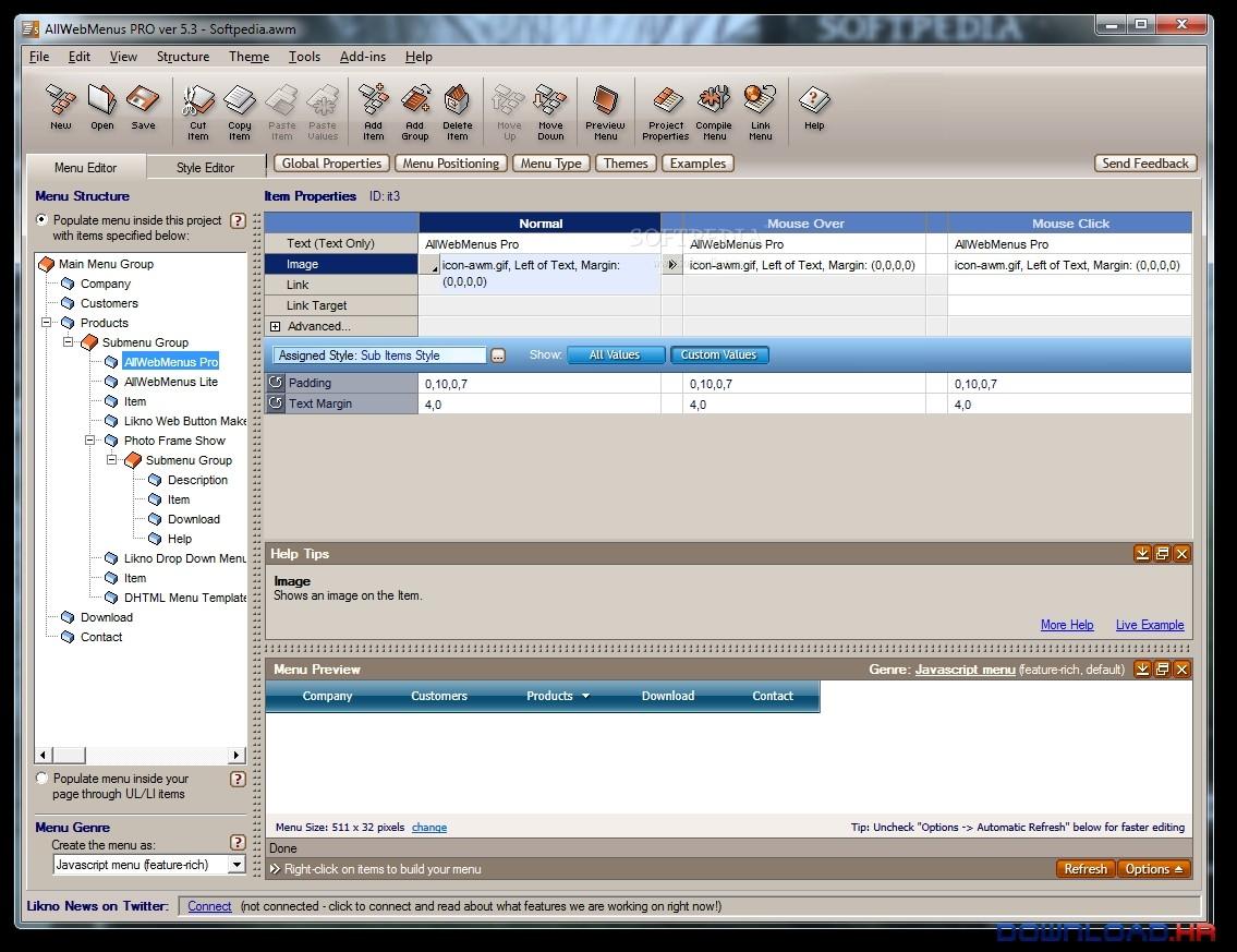 AllWebMenus Pro 5.3.940