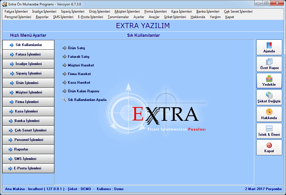 Extra Ön Muhasebe Programı 6.9.3.0
