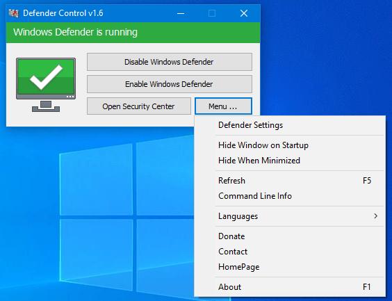 Defender Control 1.7