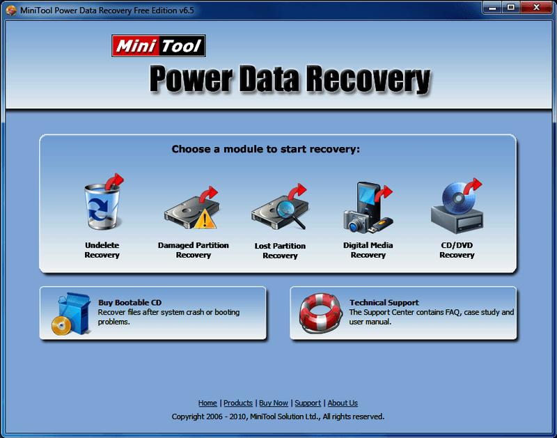MiniTool Power Data Recovery Free 9.0