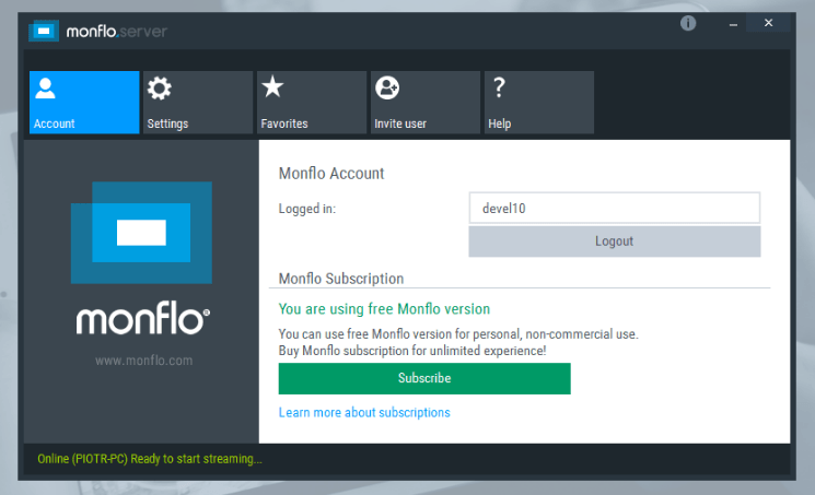 Monflo Remote PC Access 2.1.1