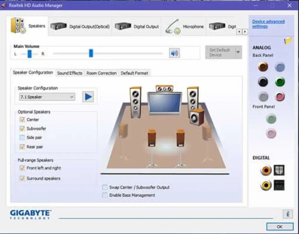Realtek HD Audio Driver 6.0.1.8627