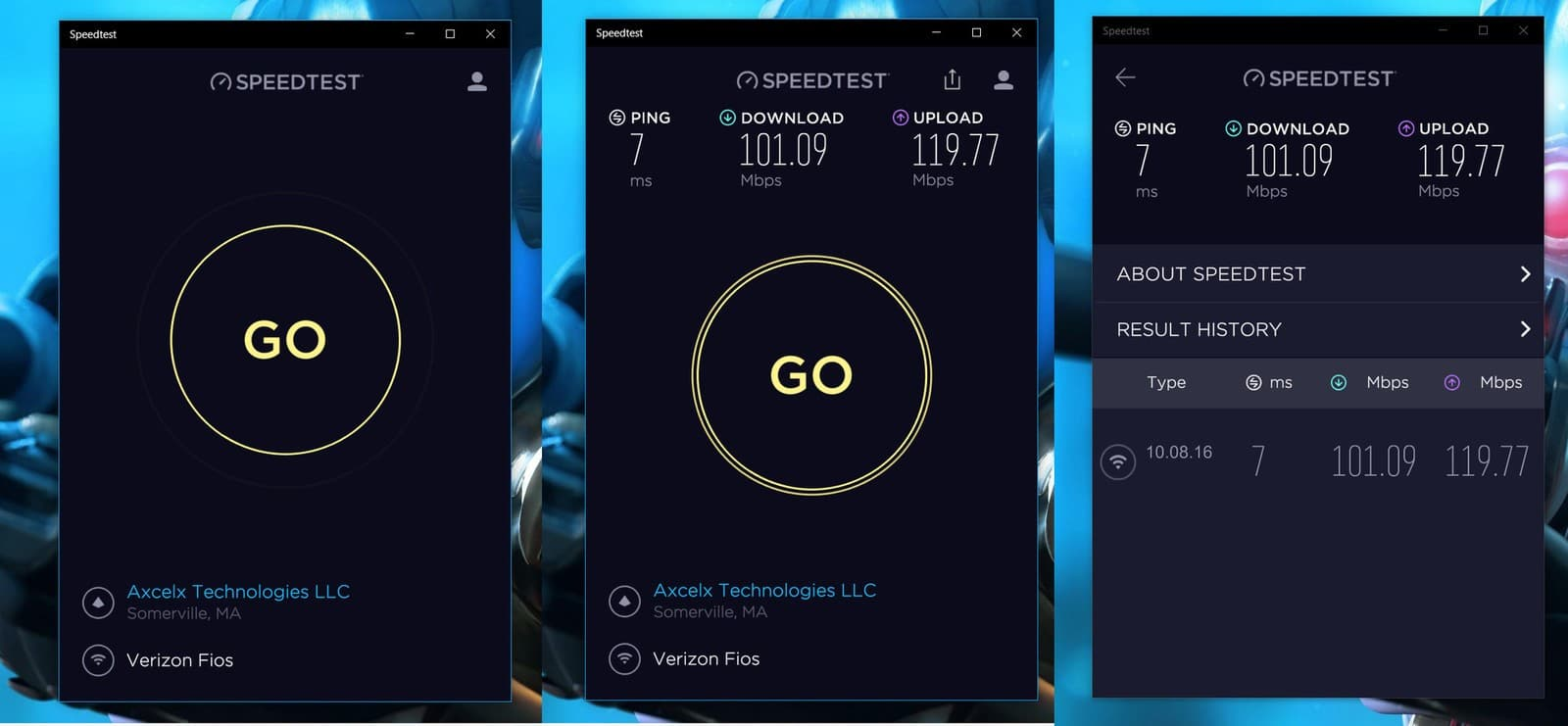 Speedtest for Desktop 1.8.154