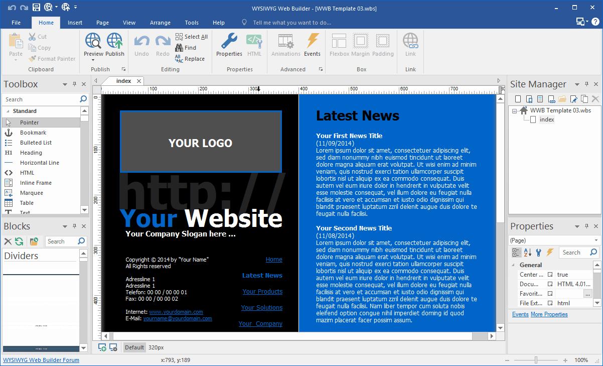 WYSIWYG Web Builder 16.0.1