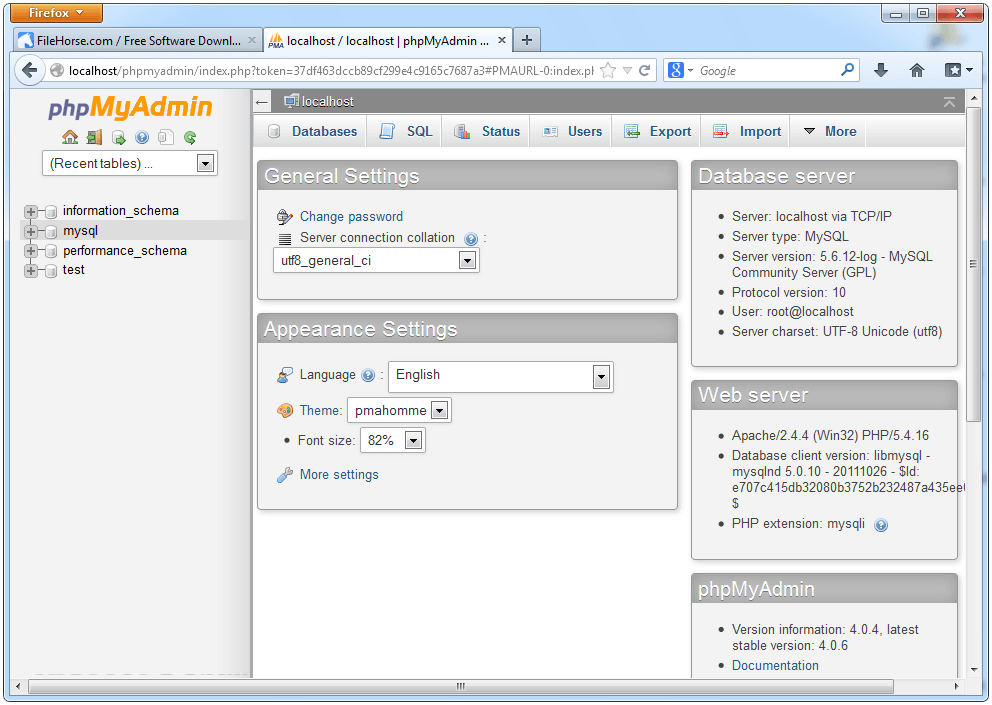 WampServer 3.2.0