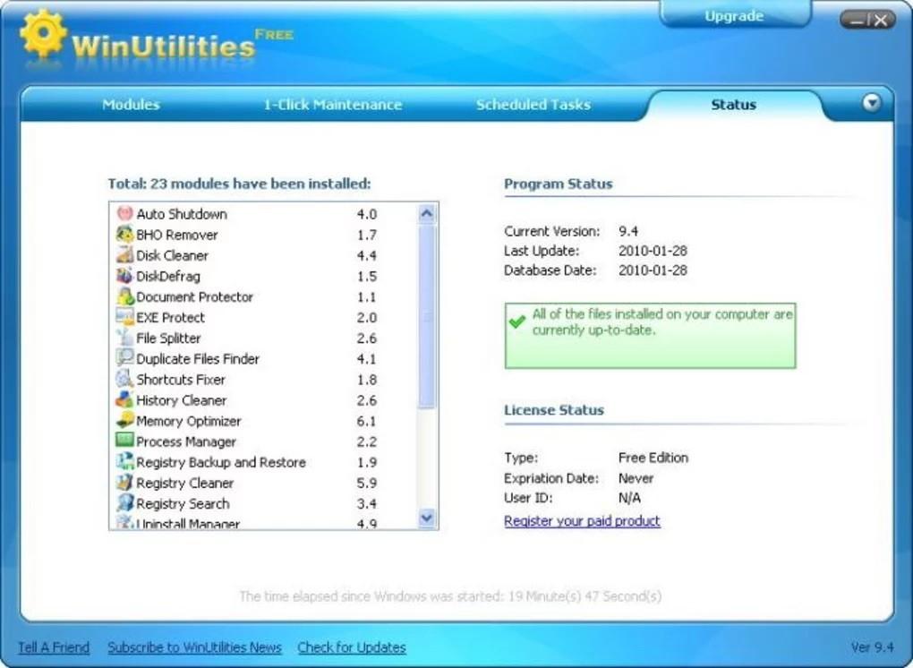 WinUtilities Free Edition 15.74