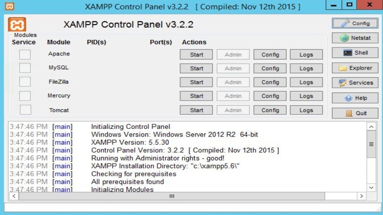 XAMPP 8.0.1