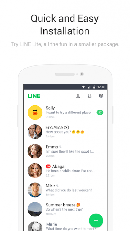 LINE Lite 2.11.1 (Android)