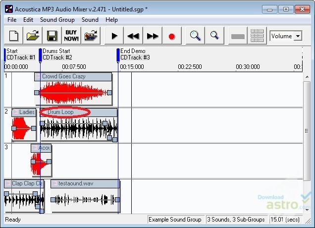 Acoustica MP3 Audio Mixer 2.47
