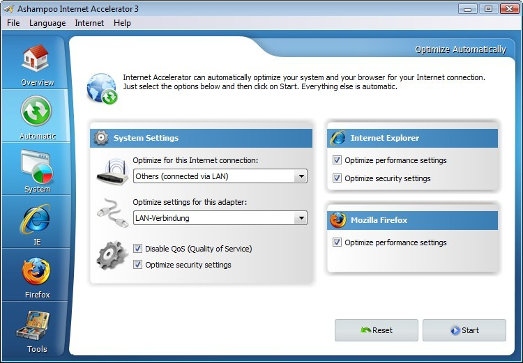Ashampoo Internet Accelerator 3 3.30
