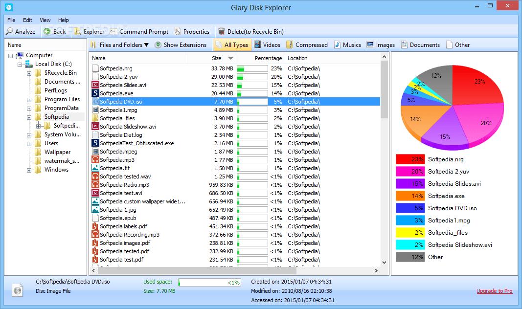 Glary Disk Explorer 5.27.1.64