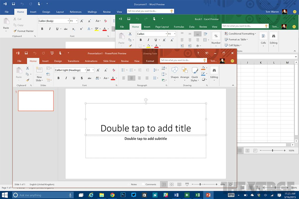 Microsoft Office 2016 Preview 32 Bit