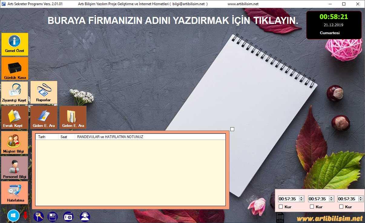 Sekreter Programı 2.01.01