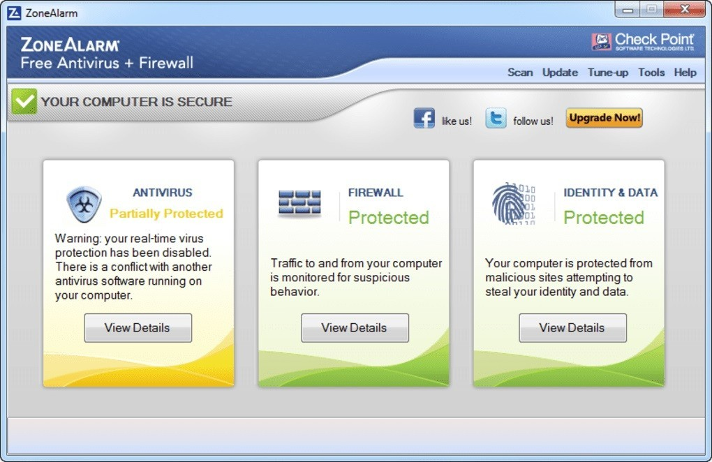 ZoneAlarm Free Antivirus 15.8.145.18590