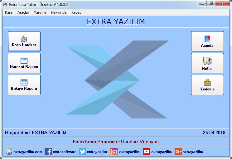 Extra Ücretsiz Kasa Takip Programı 1.3.0.0