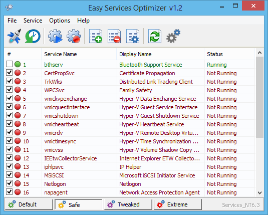 Easy Service Optimizer 1.2