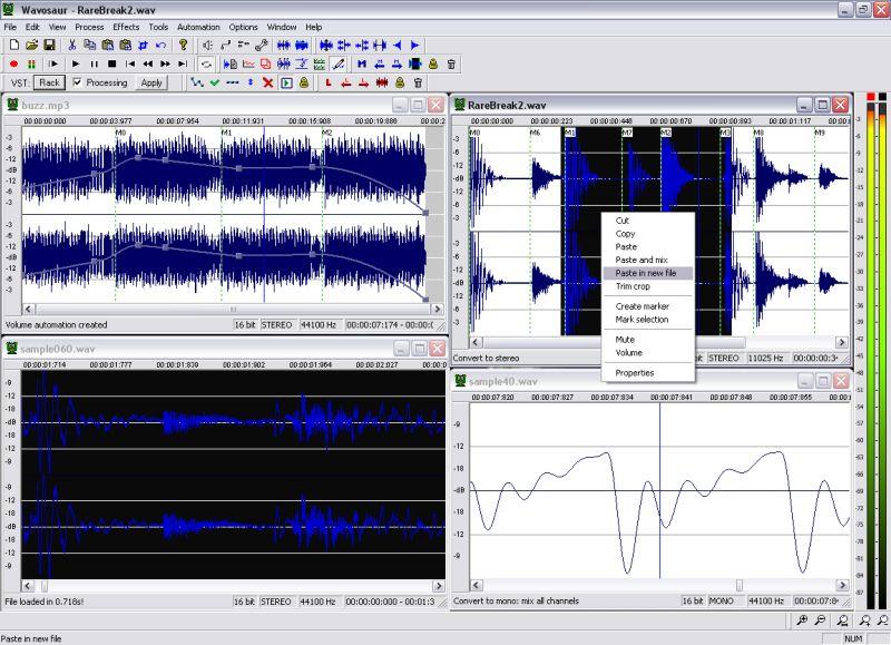 Wavosaur Free Audio Editor 1.3.0.0