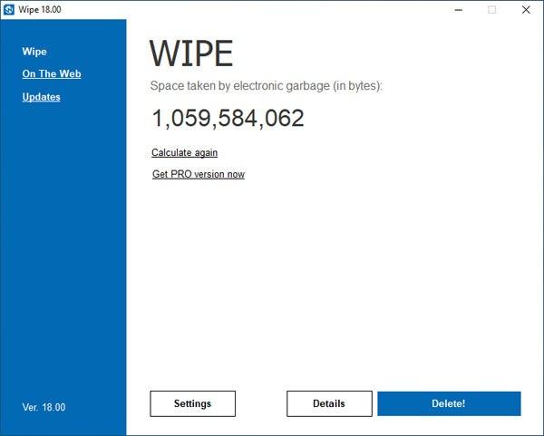 Wipe 20.16