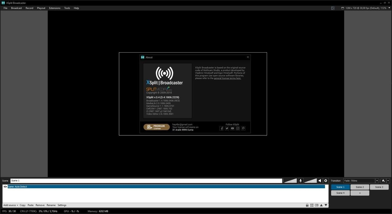 XSplit Broadcaster 3.9.1912.1002