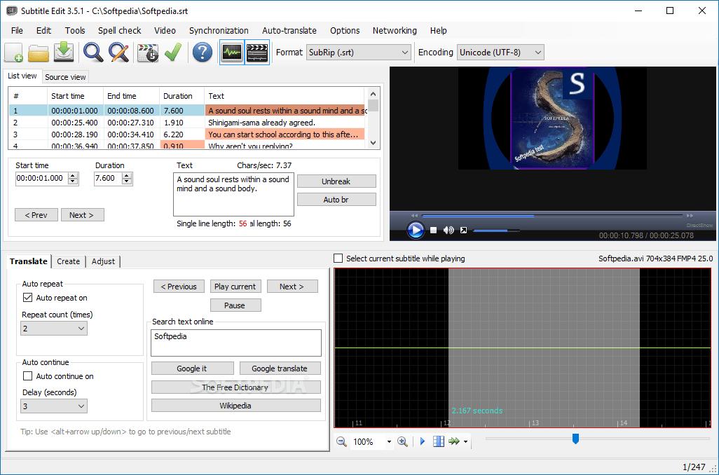 Subtitle Edit 3.6.0