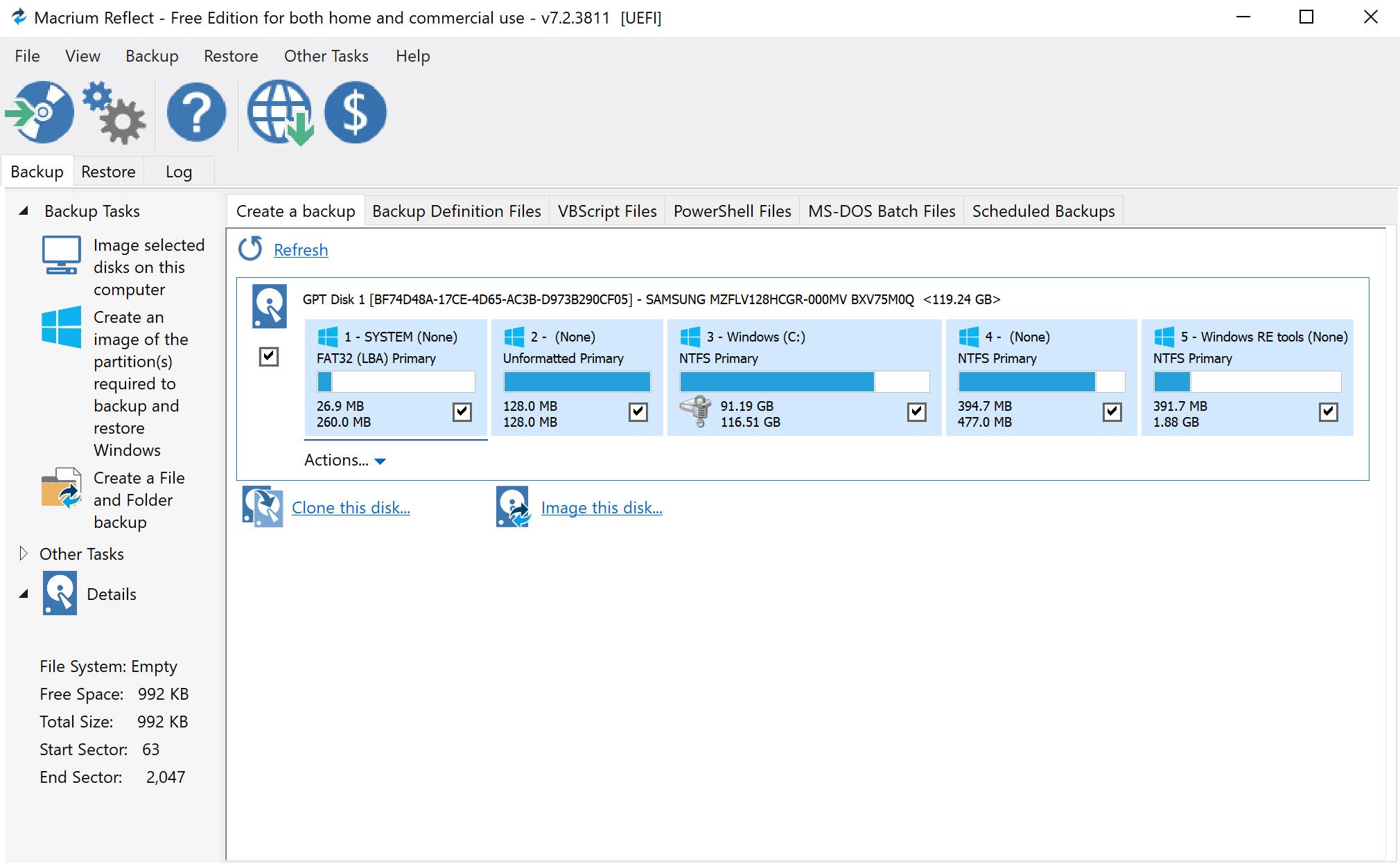 Macrium Reflect Free 7.2.1001.0