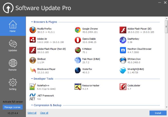 Glary Software Update
