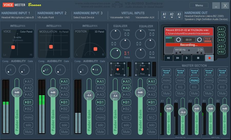 VOICEMEETER Virtual Audio Mixer 1.0.7.4