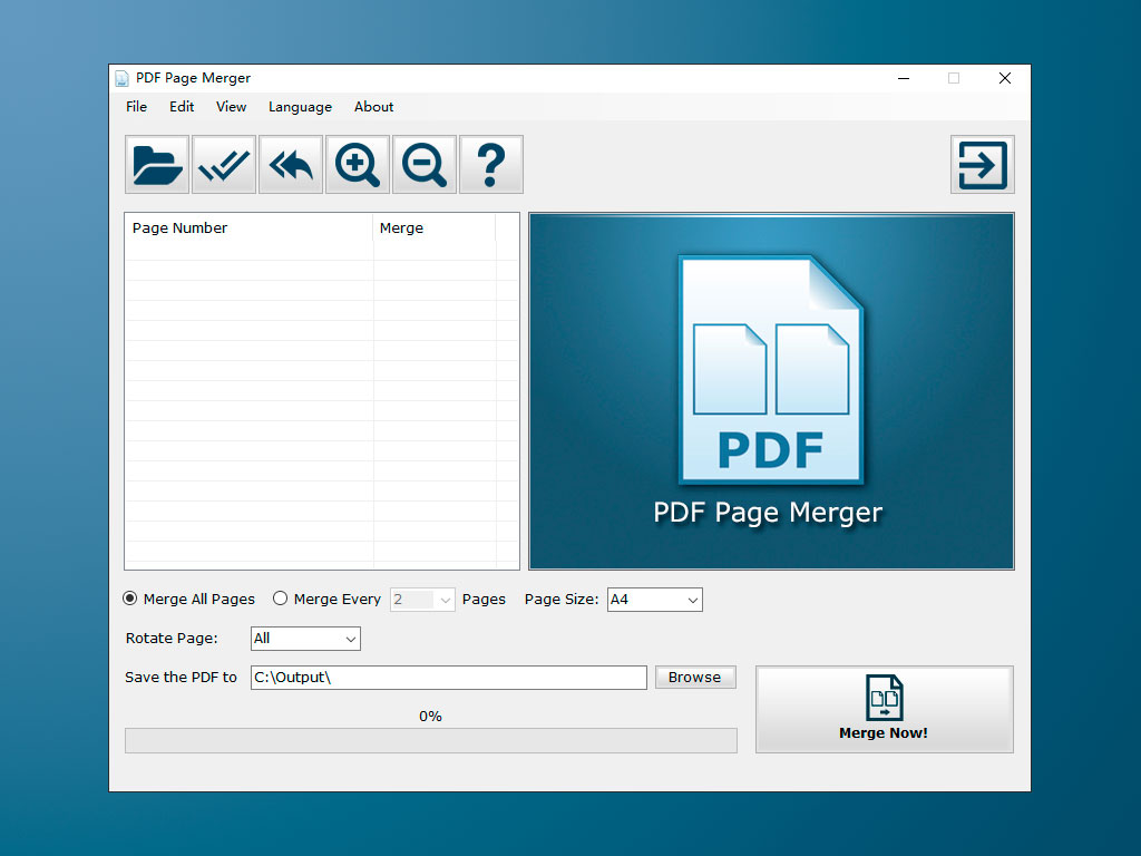 PDF Page Merger 1.2