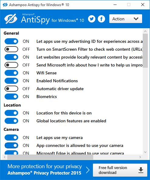 Ashampoo AntiSpy for Windows 10.1.0.6
