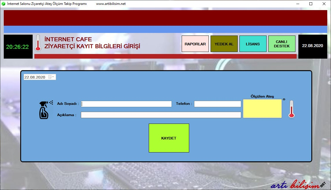 İnternet Kafe Müşteri Takip