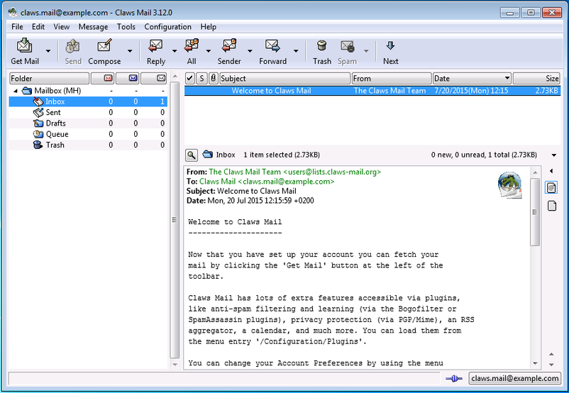 Claws Mail for Windows 3.17.8