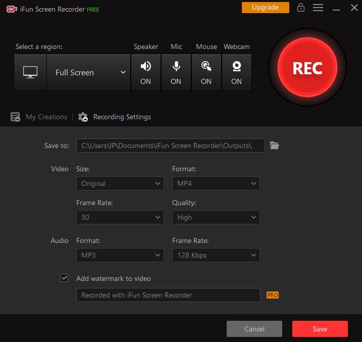 iFun Screen Recorder 1.2.0.261